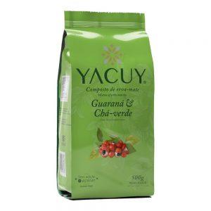 Erva Mate Yacuy Composta guaraná e chá verde 500g Caixa com 10 unidades